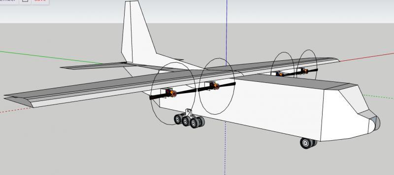 многомоторная авиамодель