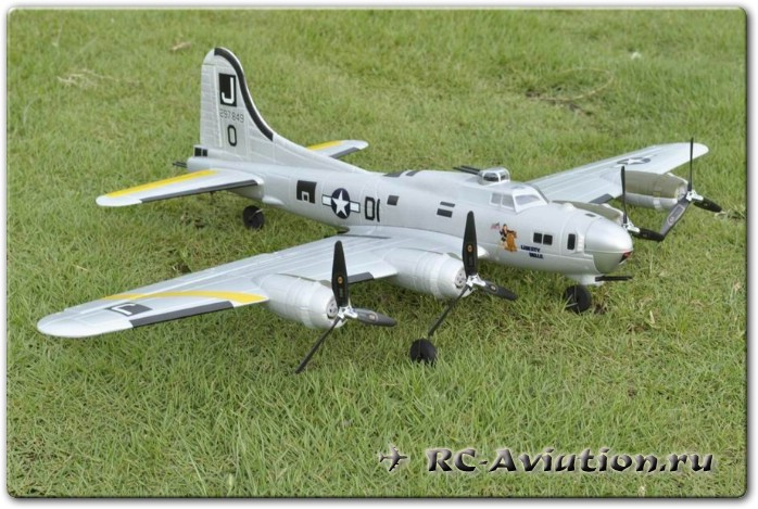 радиоуправляемая авиамодель EasySky B-17 B17 Flying Fortress 2.4G 5CH 3 Axis EPO 740mm Compatible DSM2 BNF