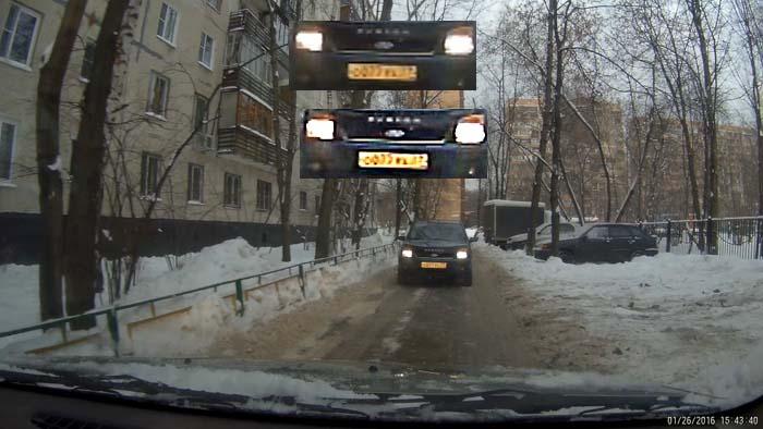 GitUp Git2 читаемость номера автомобиля на видео