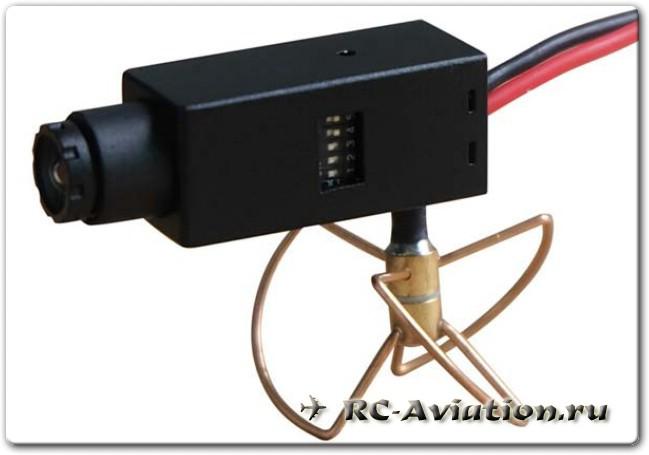 Видеопередатчик с камерой для FPV полетов на авиамодели