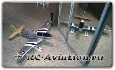 Mustang P-51D на лыжах в доме