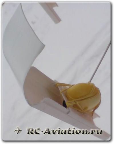 Лыжи для авиамодели из техничесого короба