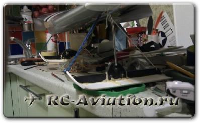 Установка лыжи на радиоуправляемую моедль самолета