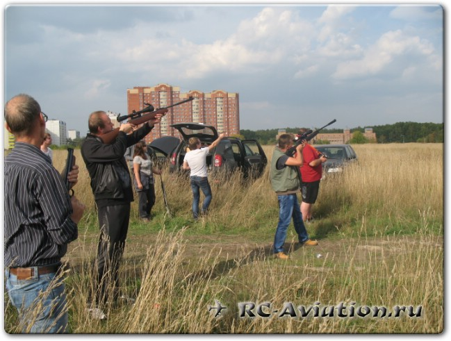 крашфест, стрельба по авиамодели