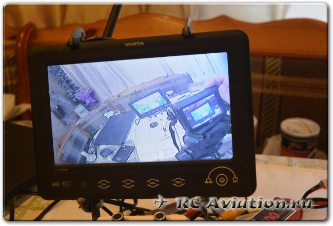 Видео с FPV комплекта Eachine из камеры и видеопередатчика