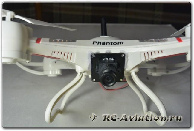 Установка FPV комплекта Eachine из камеры и видеопередатчика на мелкий квадрокоптер