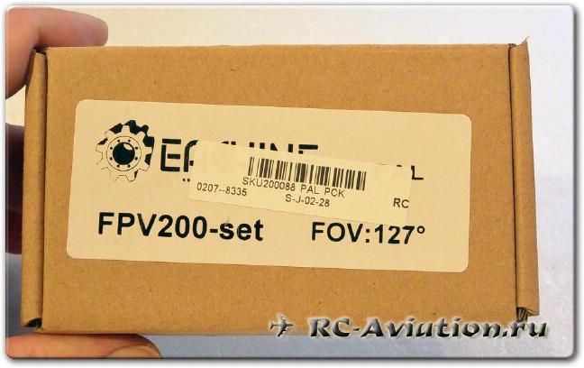 FPV комплект Eachine в коробке из камеры и видеопередатчика