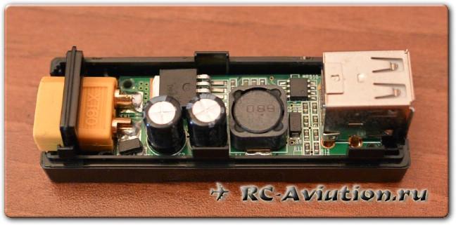 внутренности зарядного адаптера для USB от LiPo аккумуляторов