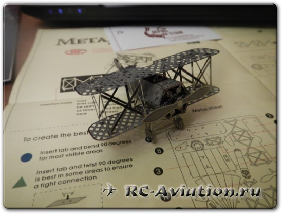сборка металлической модели