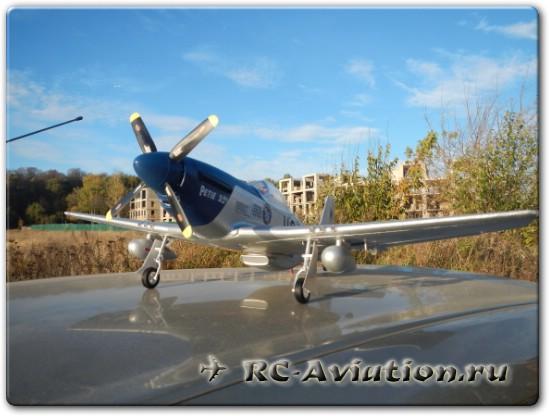 Обзор и полеты на радиоуправляемой авиамодели P-51 Mustang Petie 2nd