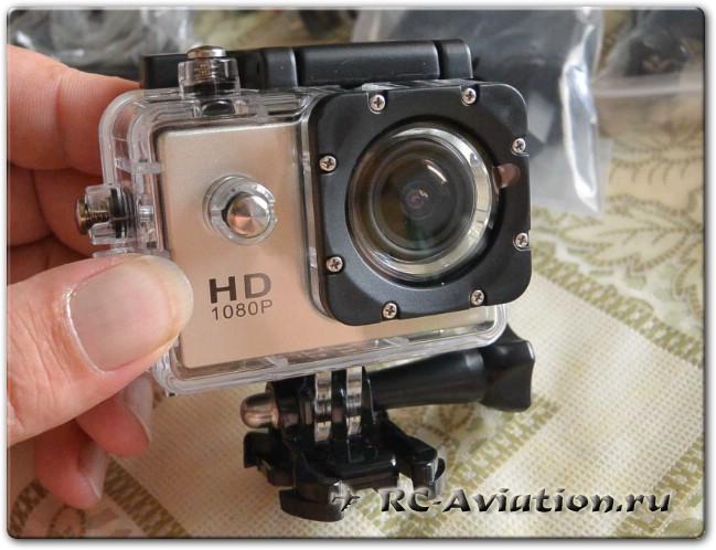 Экшен камера SJ4000 в гермобоксе