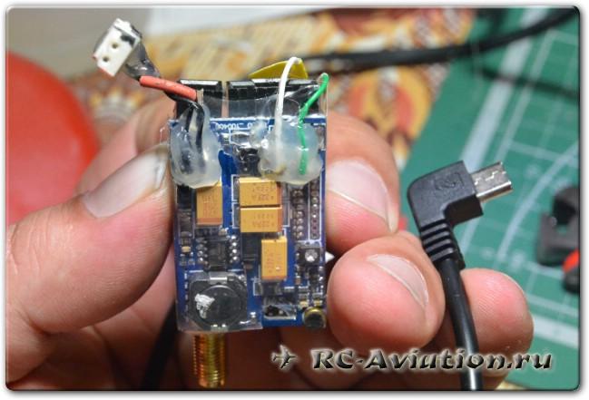 Видео передатчик с подключенным проводом для FPV полетов с SJ4000