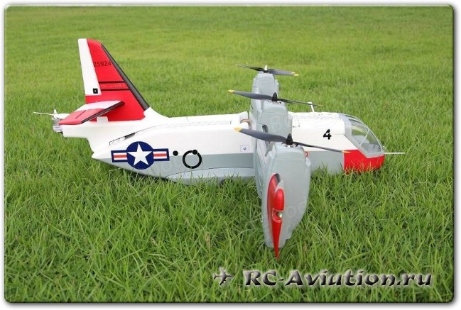 Обзор авиамодели Unique Models LTV XC-142 Tilt-wing Experimental RC Aircraft Airplane PNP