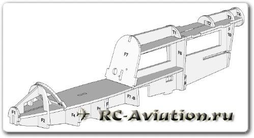 модель радиоуправляемого самолета BD-5