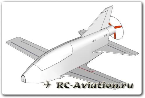 Самодельная радиоуправляемая авиамодель самолета BD-5