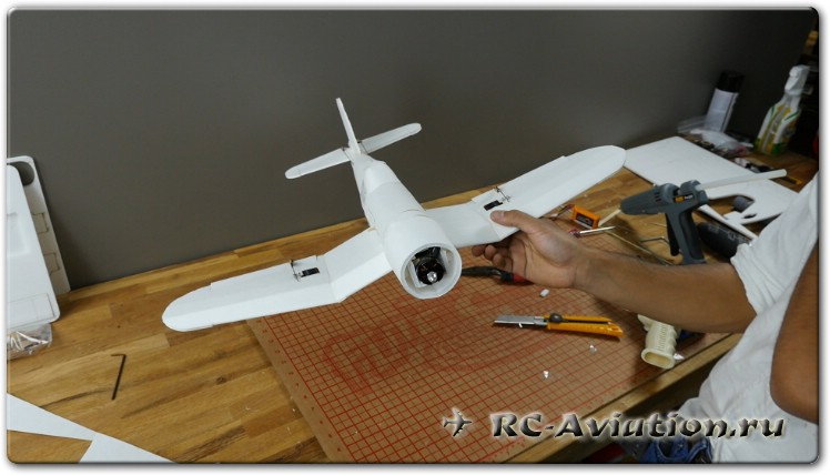 как сделать авиамодель Corsar Mini
