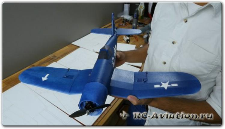 Чертежи радиоуправляемой авиамодели Corsar Mini