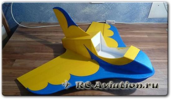 Чертежи авиамодели из потолочной плитки Judi Jetstream