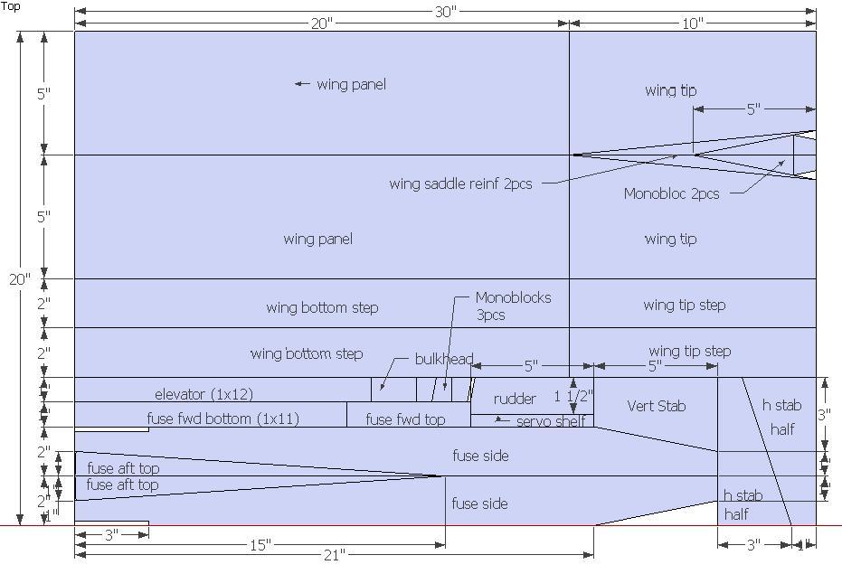 радиоуправляемый планер из потолочнки