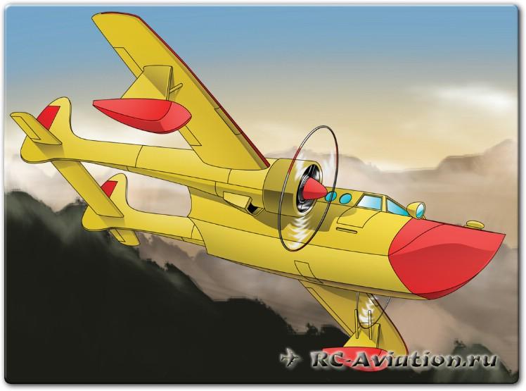Чертежи радиоуправляемой авиамодели из потолочной плитки FT Sea Duck
