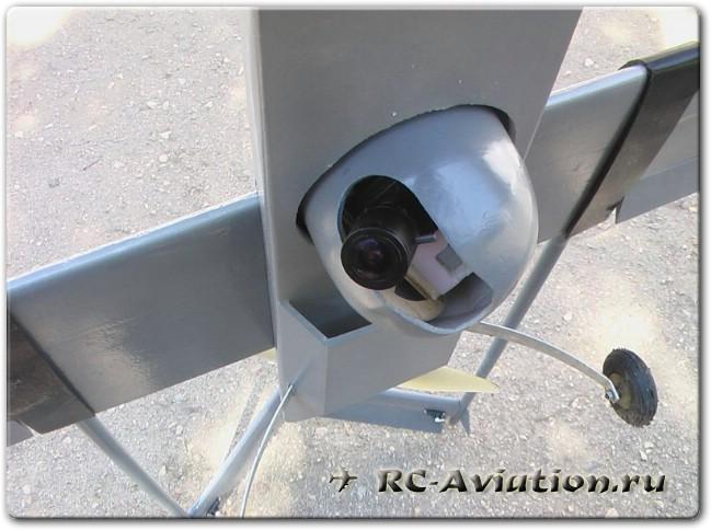 FPV система с поворотной камерой дна авиамодели Shadow 200