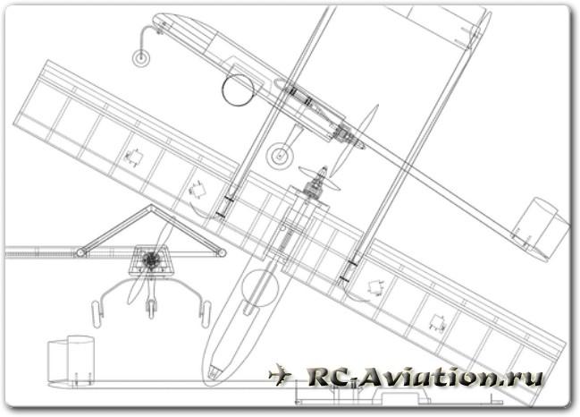 Чертежи авиамодели из потолочной плитки для FPV полетов
