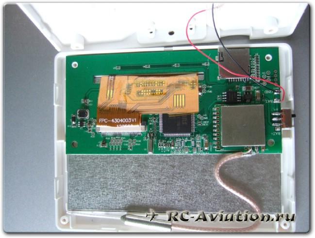 внутренности видеоприемника с экраном CX-30S