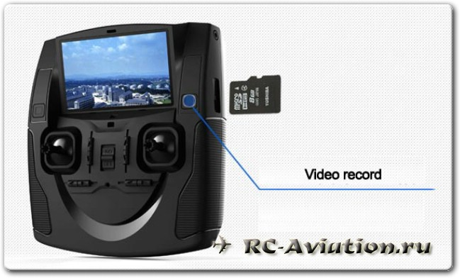 Аппаратура управления для квадрокоптера Нubsan Х4 H10D с видеозаписью