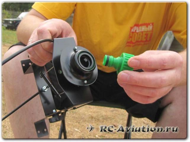 водяная ракета - устройство клапана