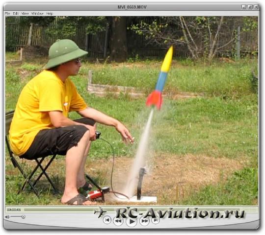 Запуск ракеты на воде
