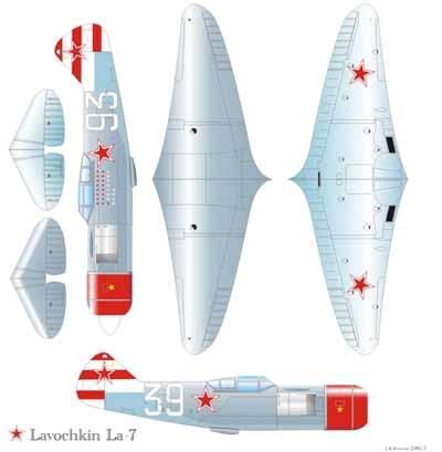 Чертежи авиамодели Ла-7