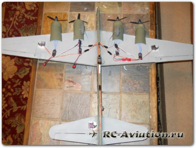 Делаем модель 4-х моторного самолета