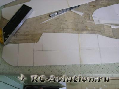 Самодельная авиамодель из потолочной плитки Cessna 150