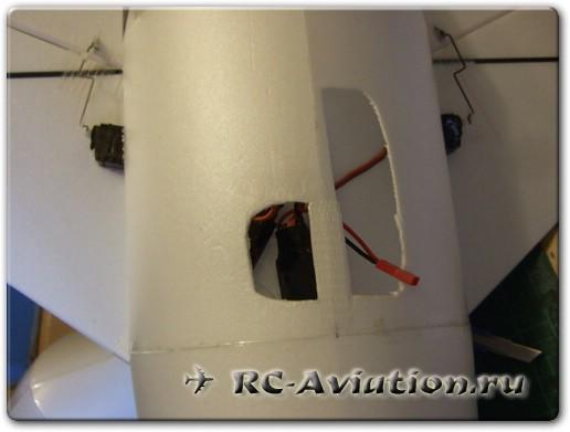 Авиамодель из потолочки