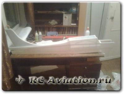 Фюзеляж большой авиамодели из потолочки