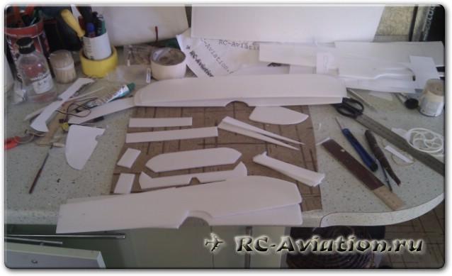 Самодельная модель биплана Manon 3D