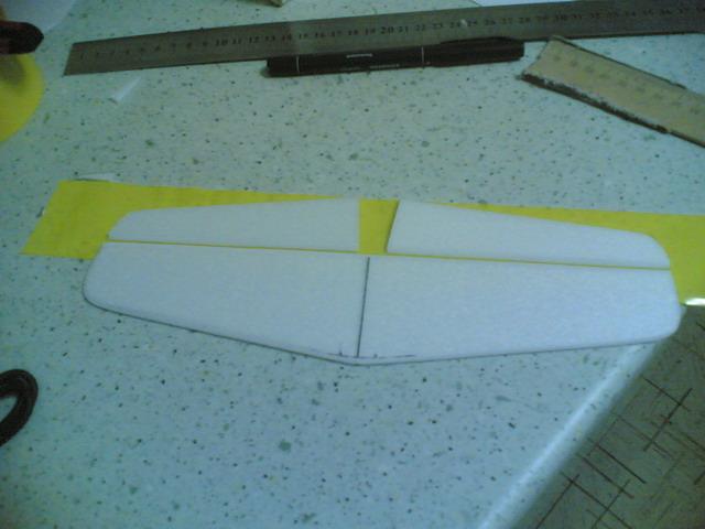 Изготовление элеватора для авиамодели Мустанг