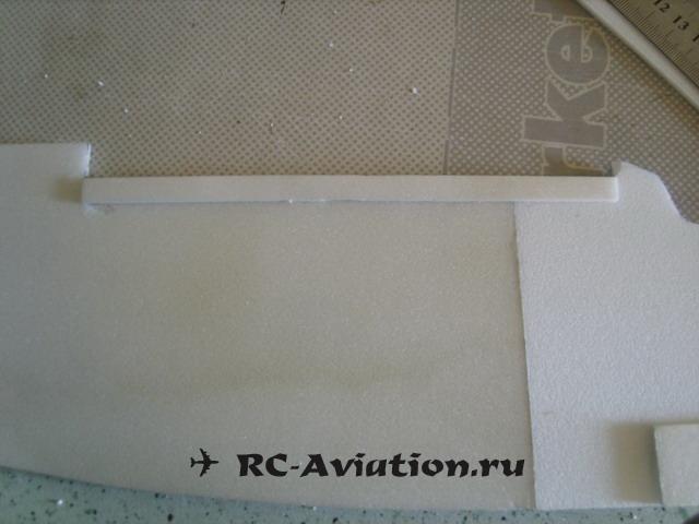 начало изготовления фюзеляжа самодельной авиамодели