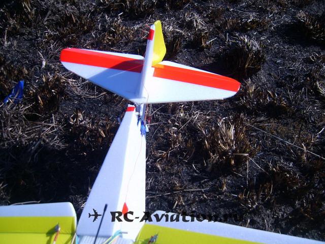 Последствия удара авиамодели о землю