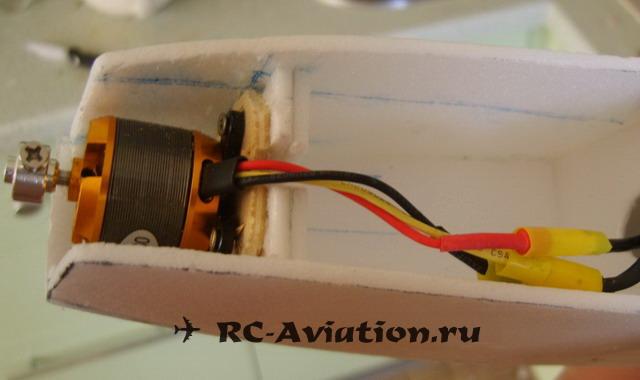 Крепление двигателя в самодельной авиамодели