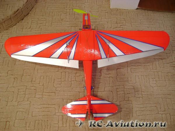 Самодельная авиамодель тренер из потолочки