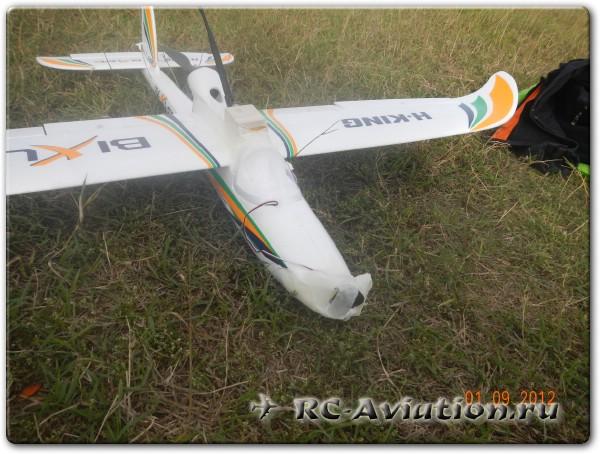 Крепление FPV комплекта на радиоуправляемую авиамодель самолета Bixler 2