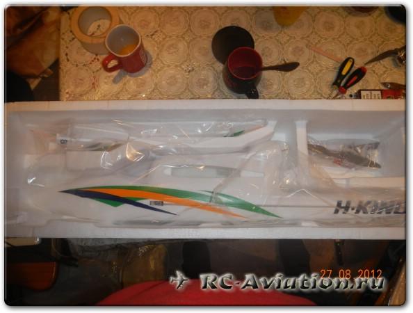 Хорошо упакована радиоуправляемая модель самолета Бикслер-2