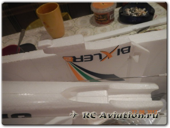 крепление хвоста радиоуправляемой модели самолета Бикслер-2