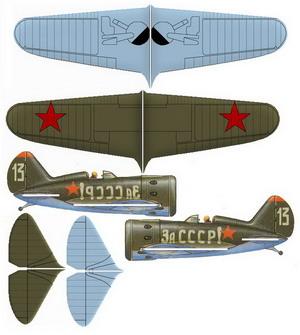 Поликарпов И-16 чертежи авиамодели