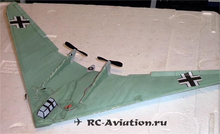 авиамодель летающее крыло из сайзера (танчик)