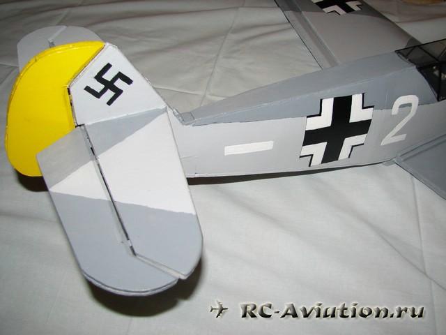 Авиамодель мессершмитт bf-109