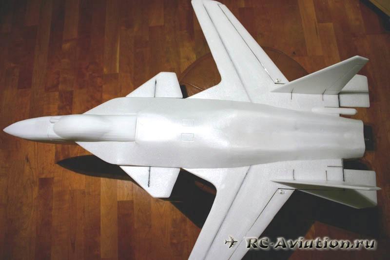 Изготовление авиамодели Су-47 своими руками