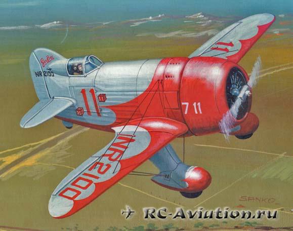GeeBee бумажная модель самолета