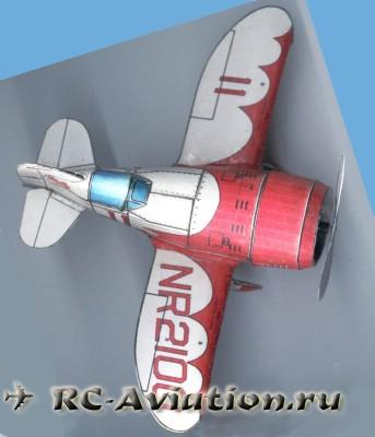 GeeBee чертежи бумажной авиамодели